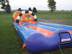 Water slide, slide with water